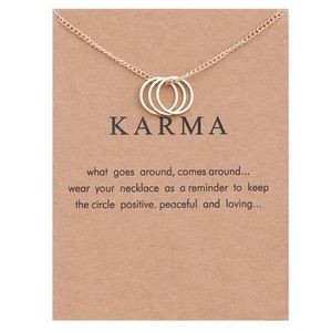 Jewelry - NEW Gold 'Karma' Necklace